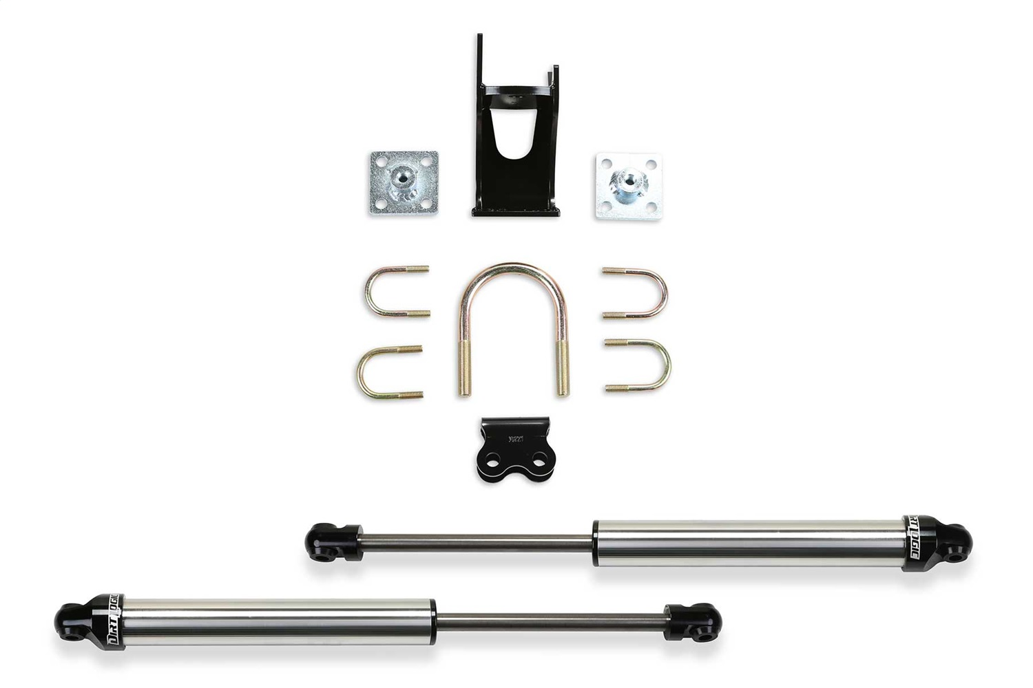 Fabtech FTS220512 Dual Dirt Logic 2.25 Stainless Steel Steering Stabilizer Kit