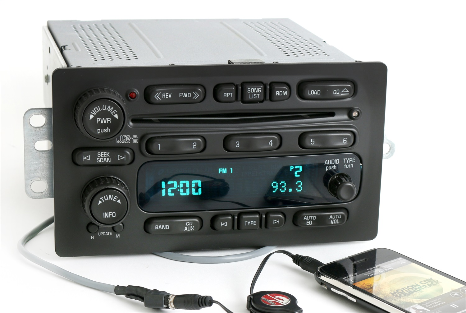 1 Factory Radio 638-01956-B AM/FM Radio 6 Disc CD Player