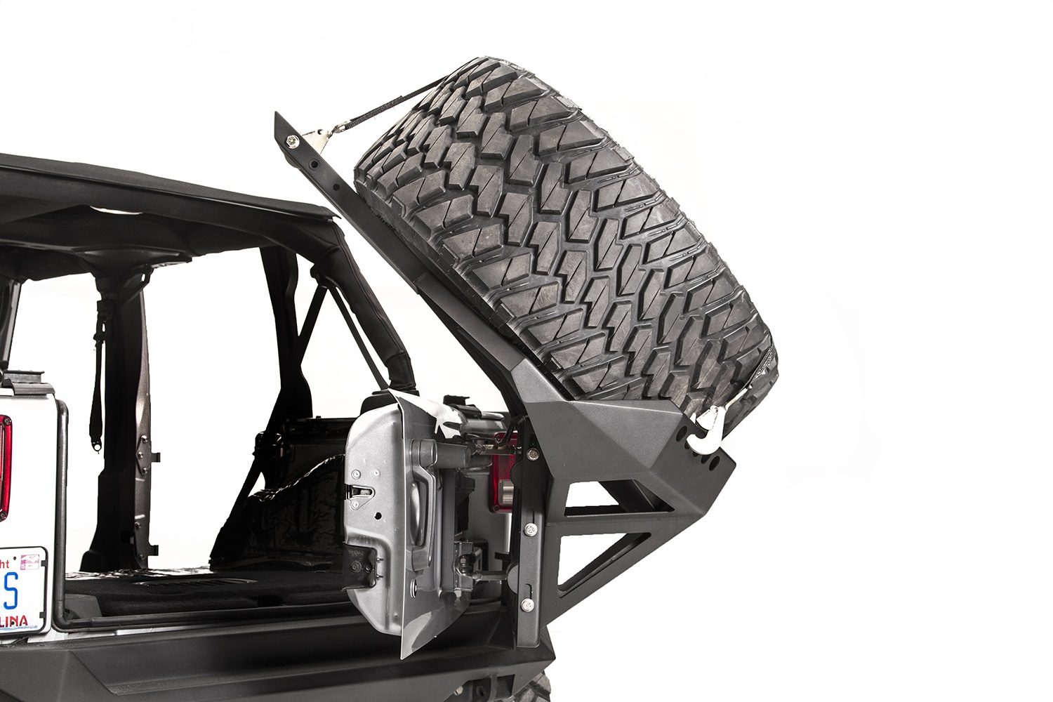 Fab Fours Jk2070 1 Spare Tire Carrier Fits 07 18 Wrangler Jk 1955 Ford F100