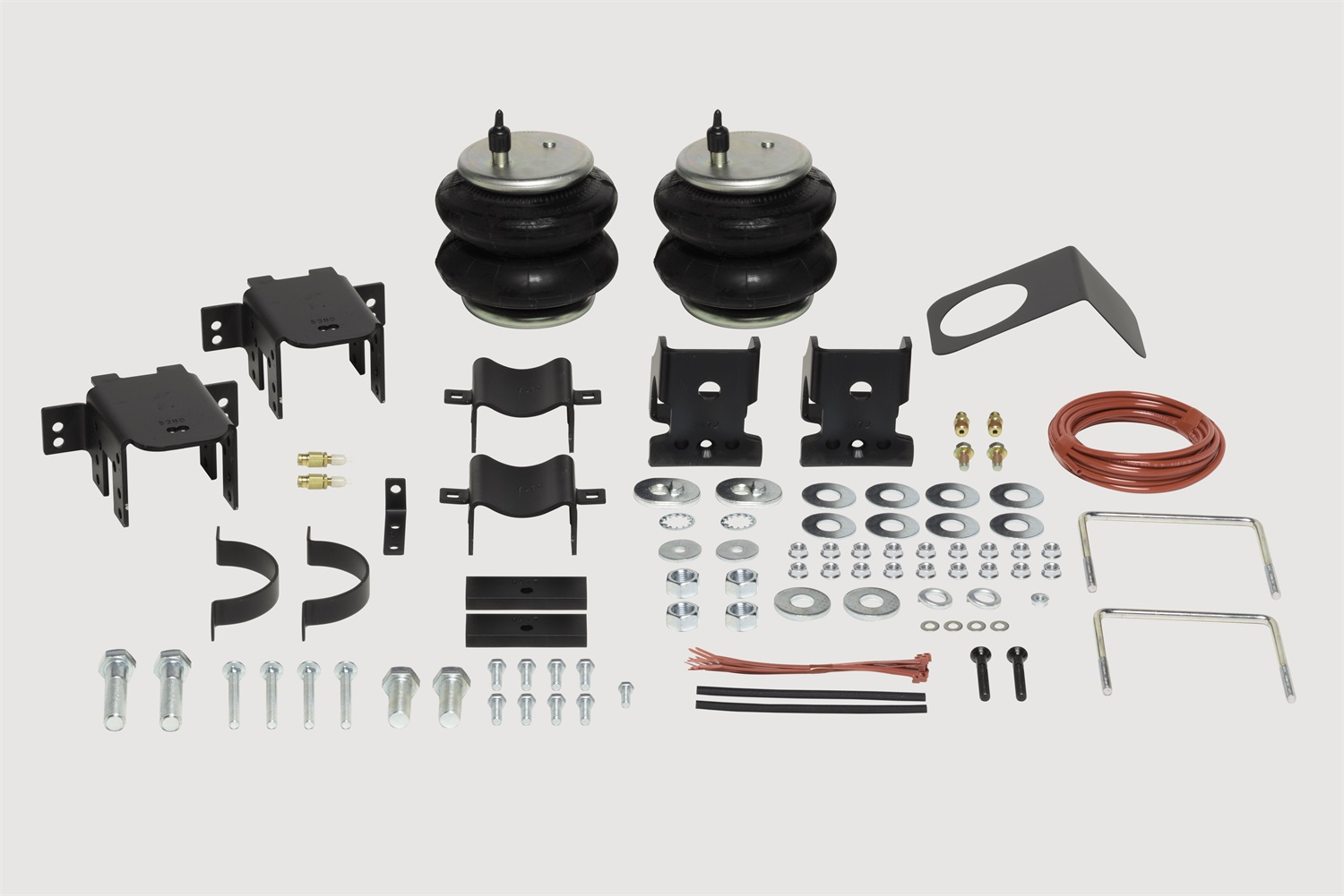 Ride-Riter Air Helper Spring Kit, Rear, Incl. Brackets, Air Helper Springs, Hardware, Air Line, And Inflation Valves, No Drilling Req, Superseded To PN [2597]