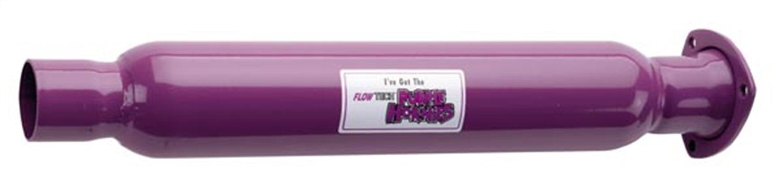 """Flowtech 50230FLT Purple Hornies 3/"""" 3 Bolt Header Collector 2.25/"""" Pipe Muffler"""