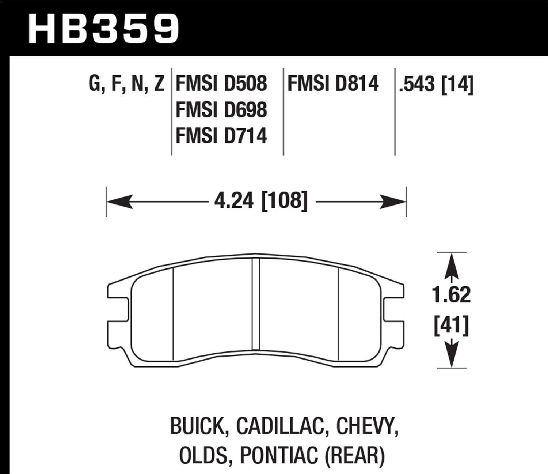 Hawk Performance HB648B.607 HPS 5.0 Disc Brake Pad