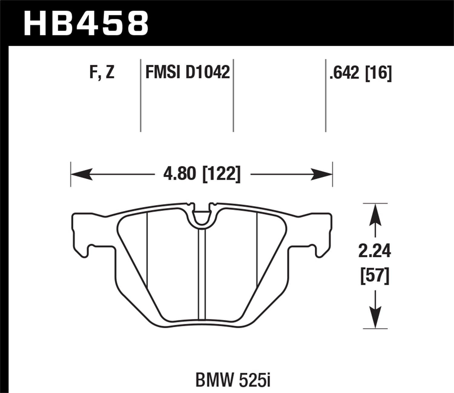 Hawk Performance HB458Z.642 Performance Ceramic Disc Brake Pad