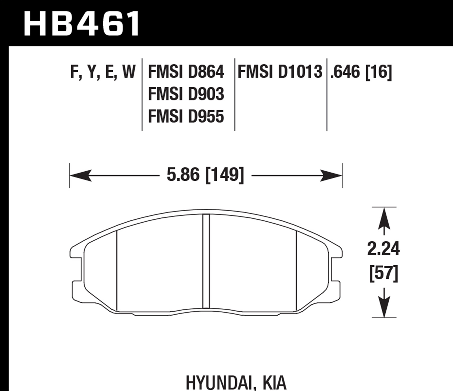 Hawk Performance HB461F.646 HPS Disc Brake Pad
