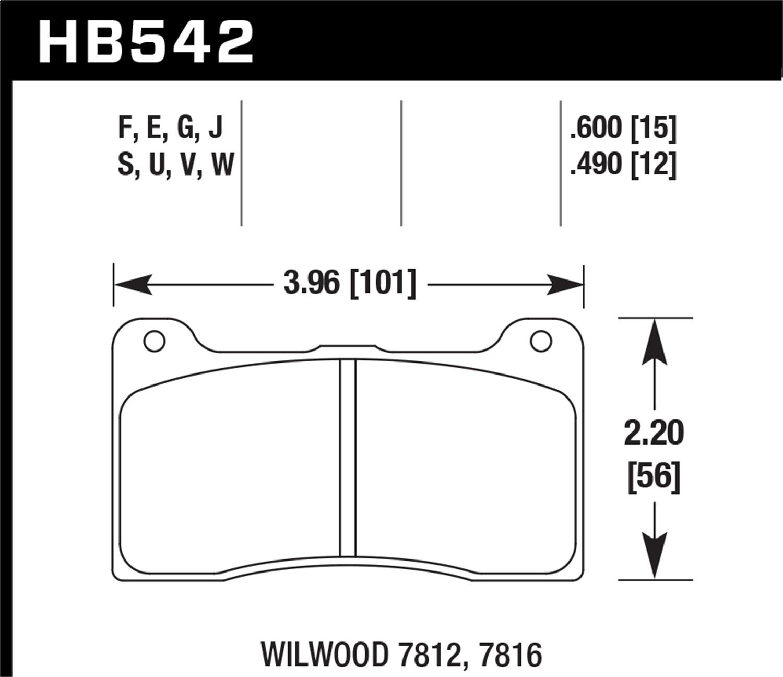 Hawk Performance HB700W.562 Disc Brake Pad