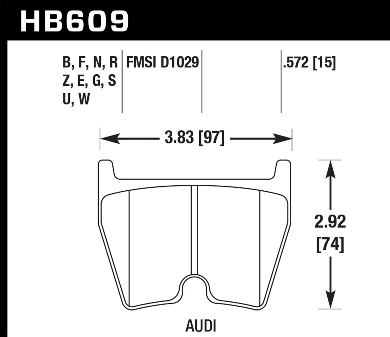 Hawk Performance Hb609b572 Disc Brake Pad Fits 03 15 Gallardo R8 Note This Is A Thumbnail Diagram Click On It To Enlarge Thumbnails