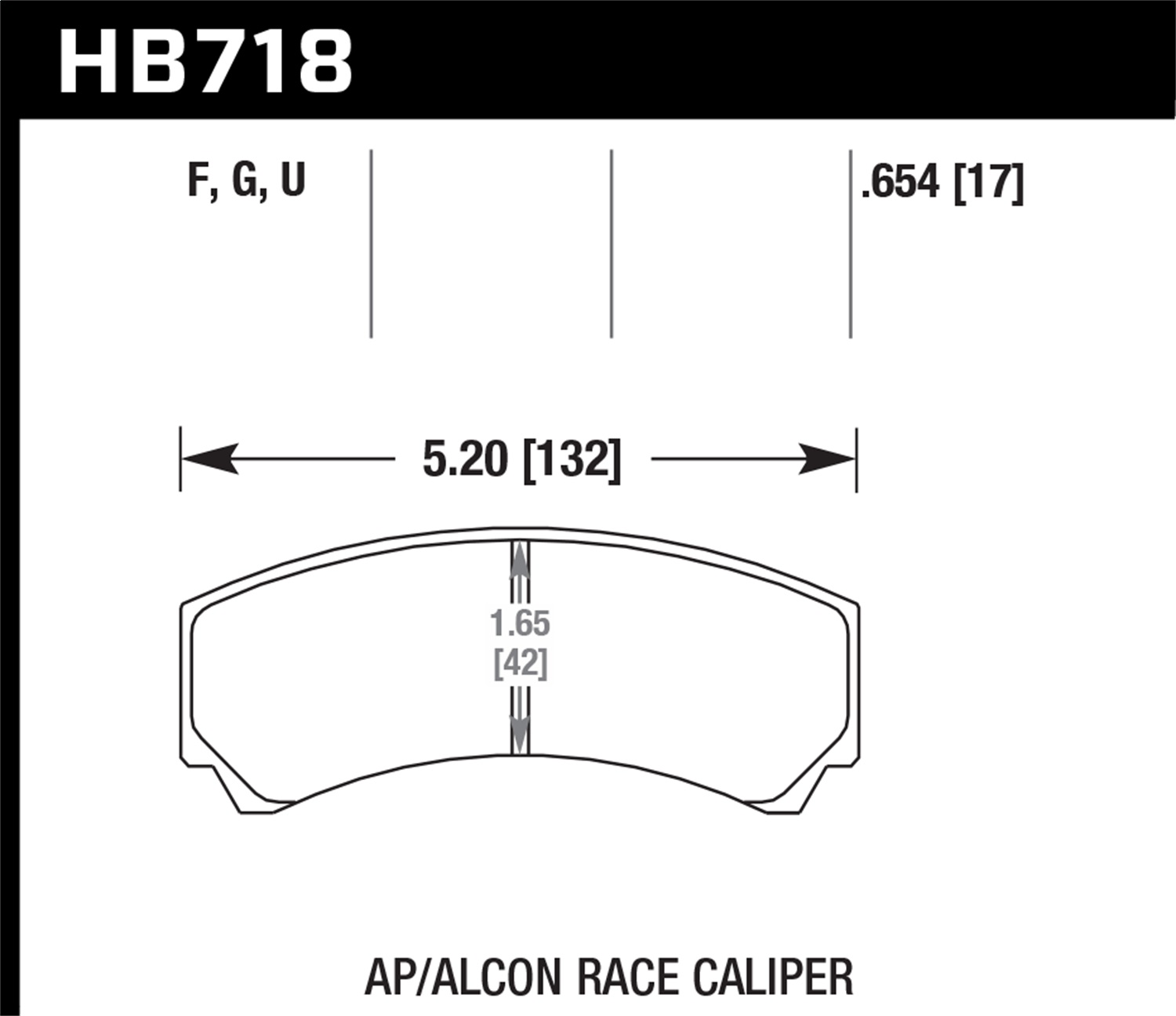 Hawk Performance HB718U.654 DTC-70 Disc Brake Pad