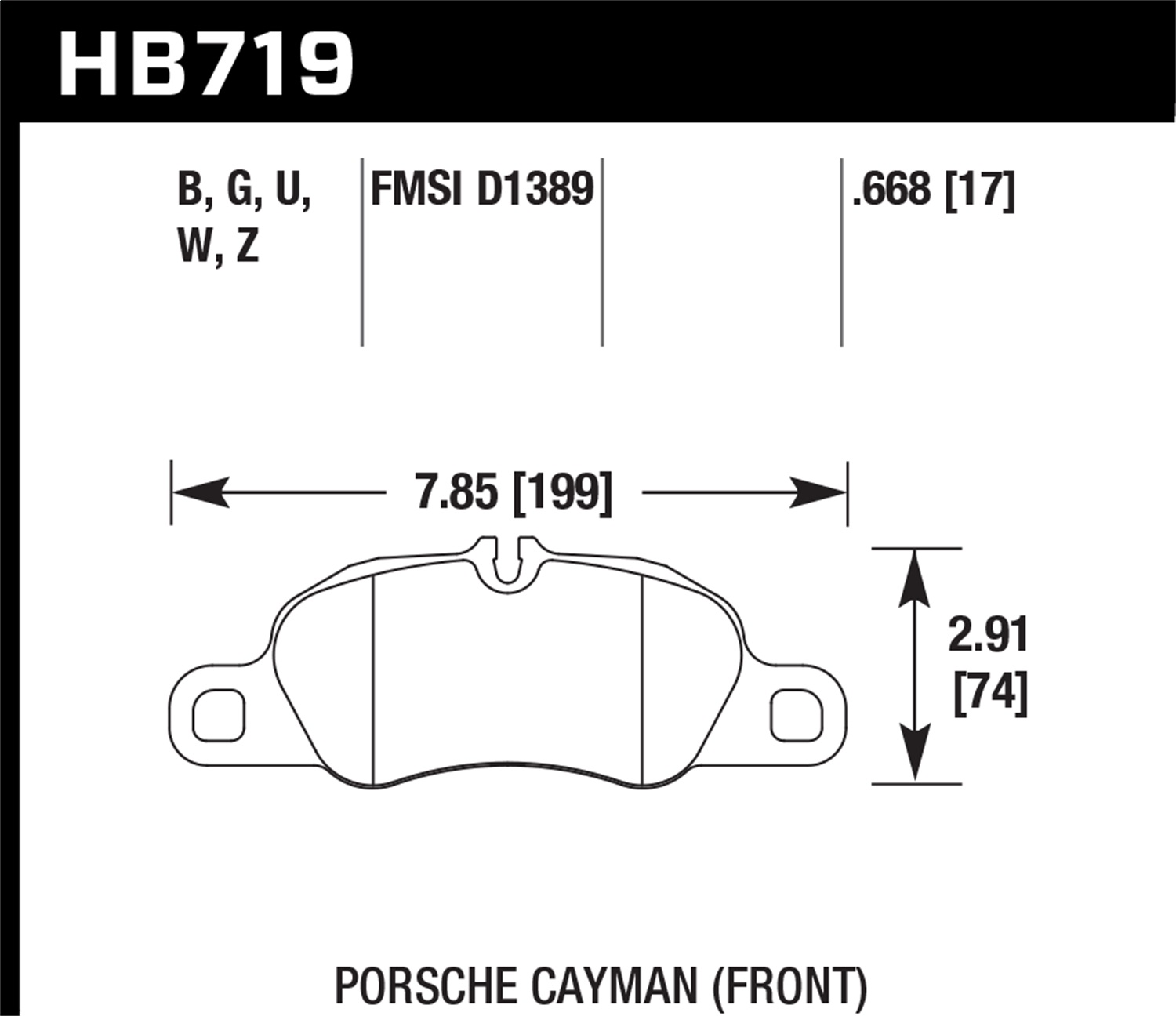 Hawk Performance HB719G.668 DTC-60 Disc Brake Pad