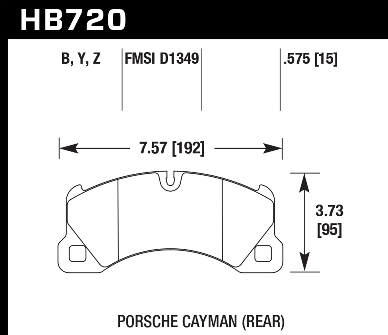 Hawk Performance HB720B.575 HPS 5.0 Disc Brake Pad Fits Cayenne Panamera Touareg