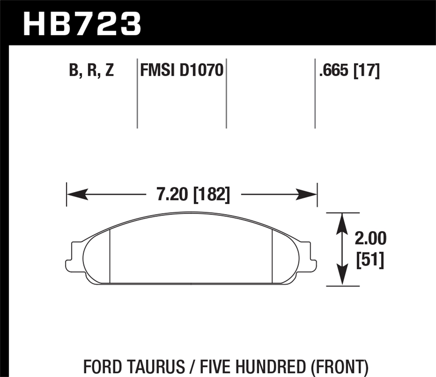 Hawk Performance HB723R.665 Street Race Disc Brake Pad