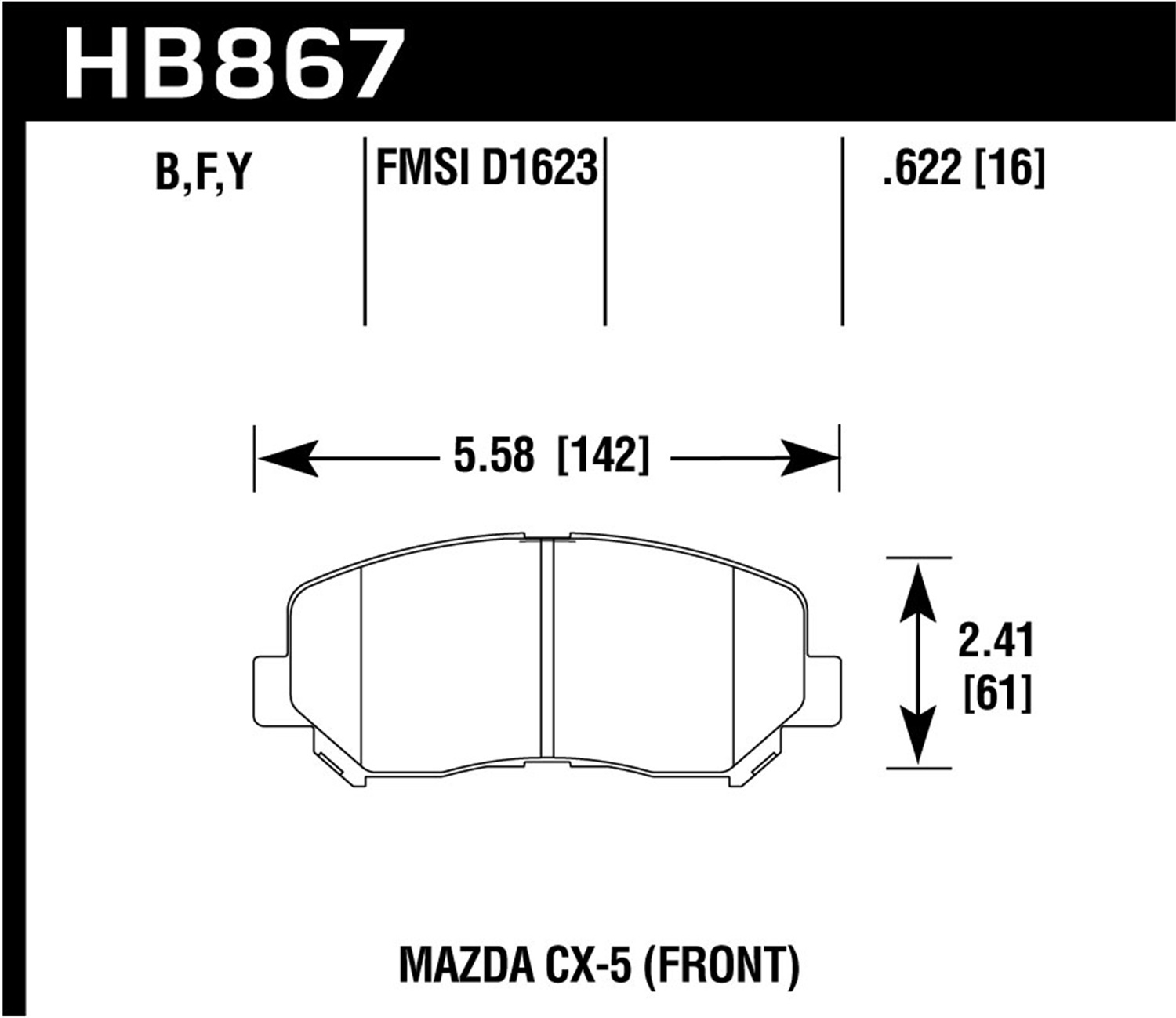 Hawk Performance HB103N.590 HP Plus Brake Pad