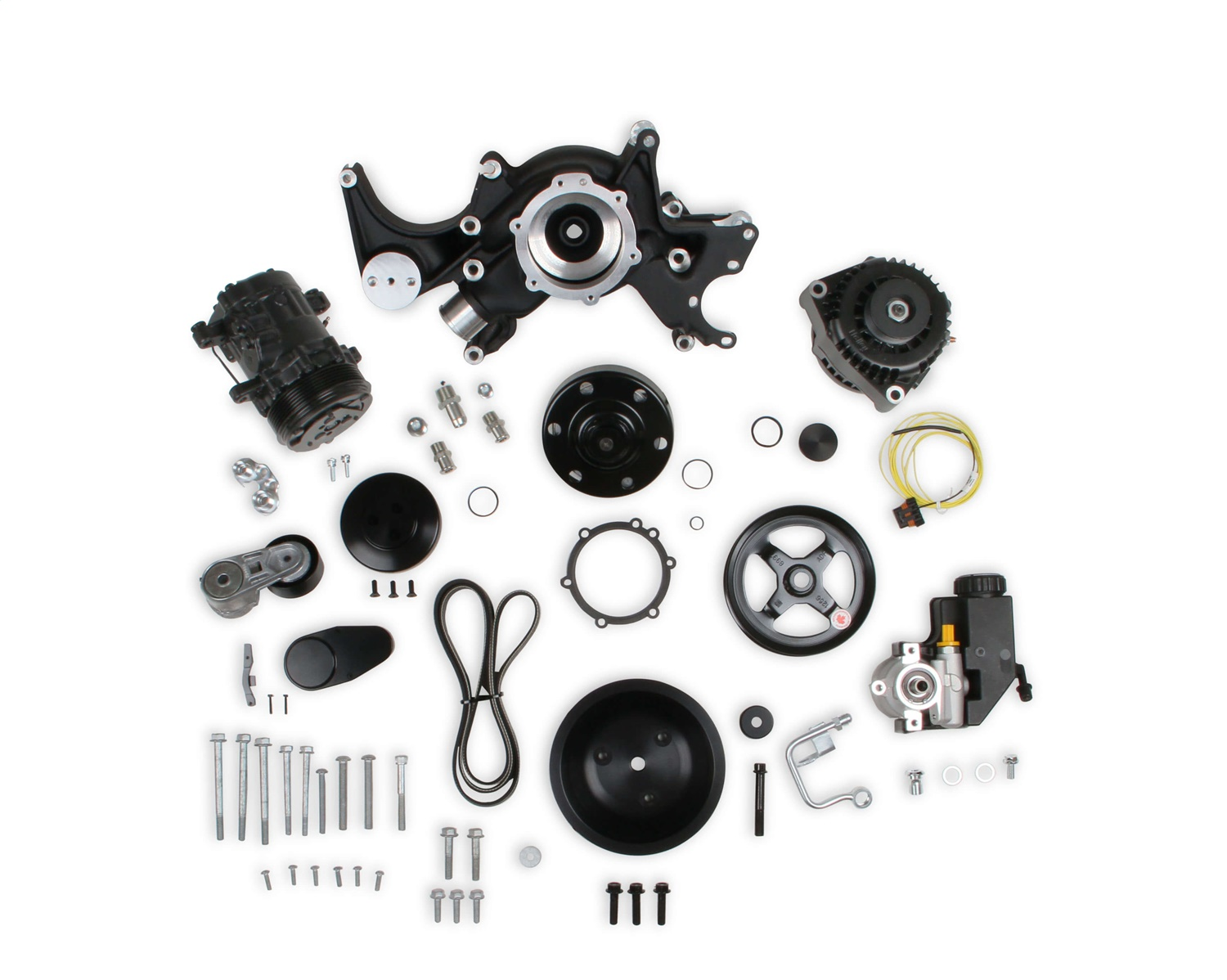 Holley Performance 20-242BK Mid-Mount Complete Accessory Drive System