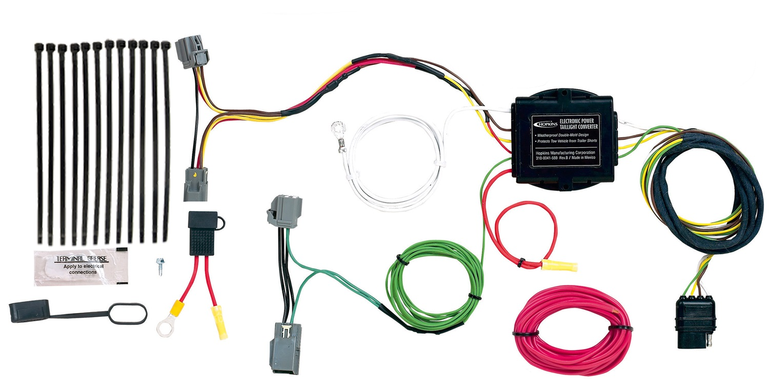 hopkins towing solution 11140285 trailer wire harness ebay rh ebay com 4 Prong Trailer Wiring Diagram 4 Pin Trailer Wiring Harness