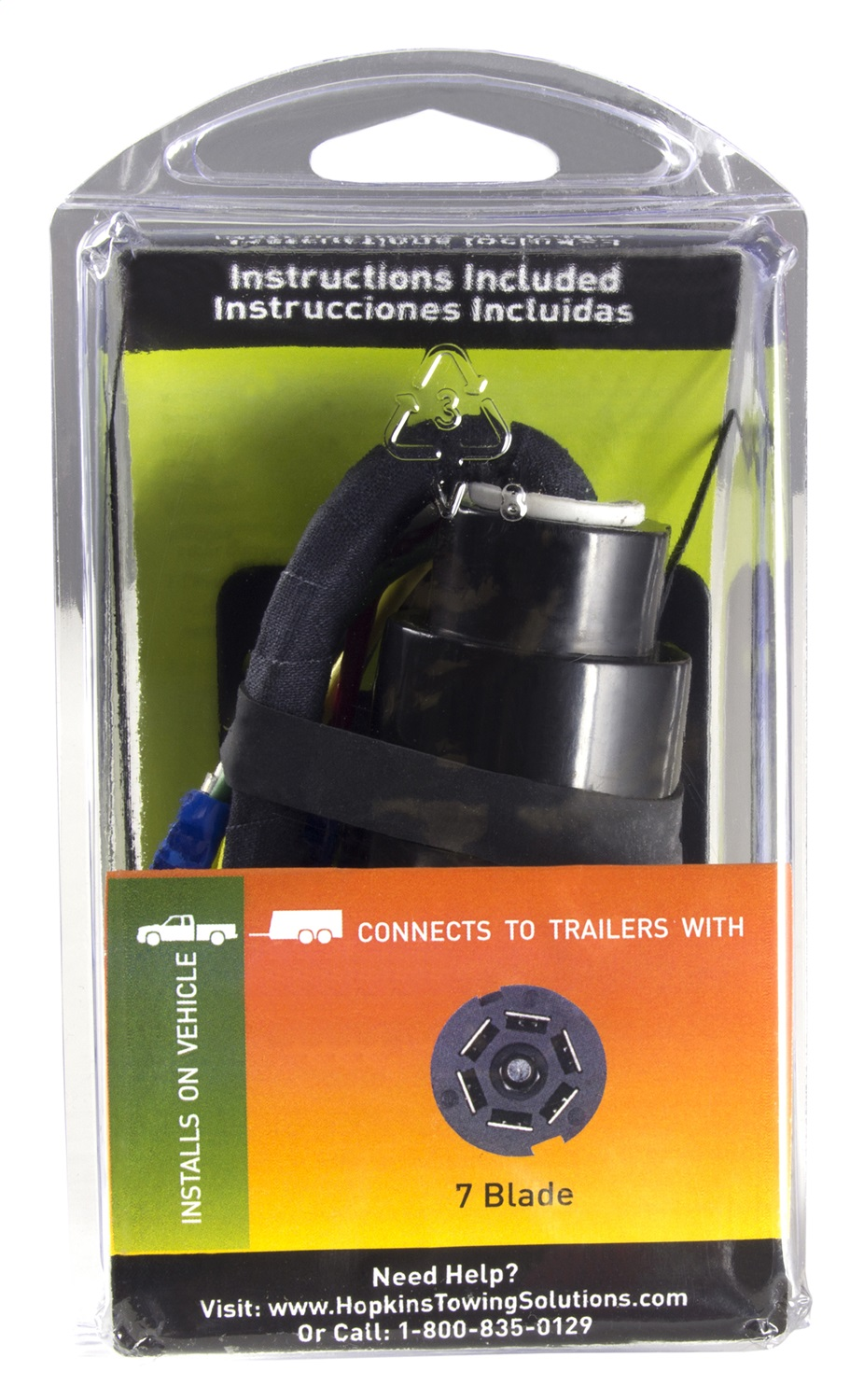 Hopkins Towing Solution 41145 7 Blade Vehicle To Trailer Wiring Connector Instructions Harness