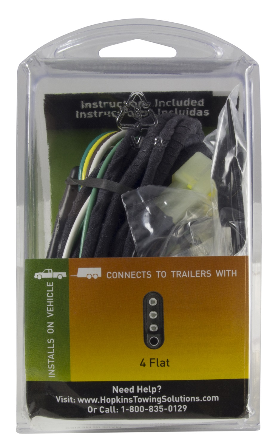 Hopkins Towing Solution 43315 Plug In Simple Vehicle To Trailer Installing Wiring Harness