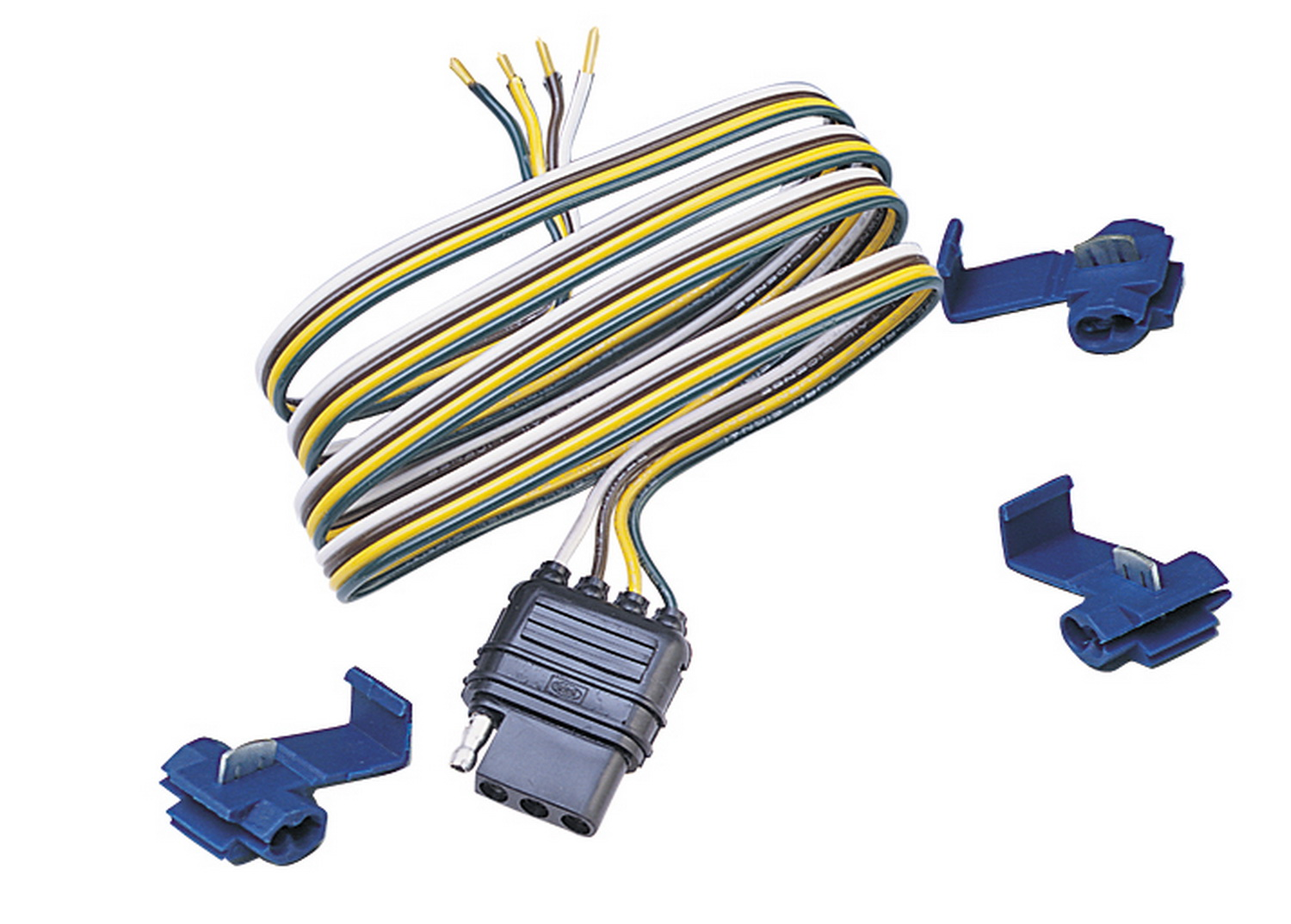 Details About 48025 Hopkins 48025 4 Wire Flat Connector Vehicle To Trailer Wiring Connector