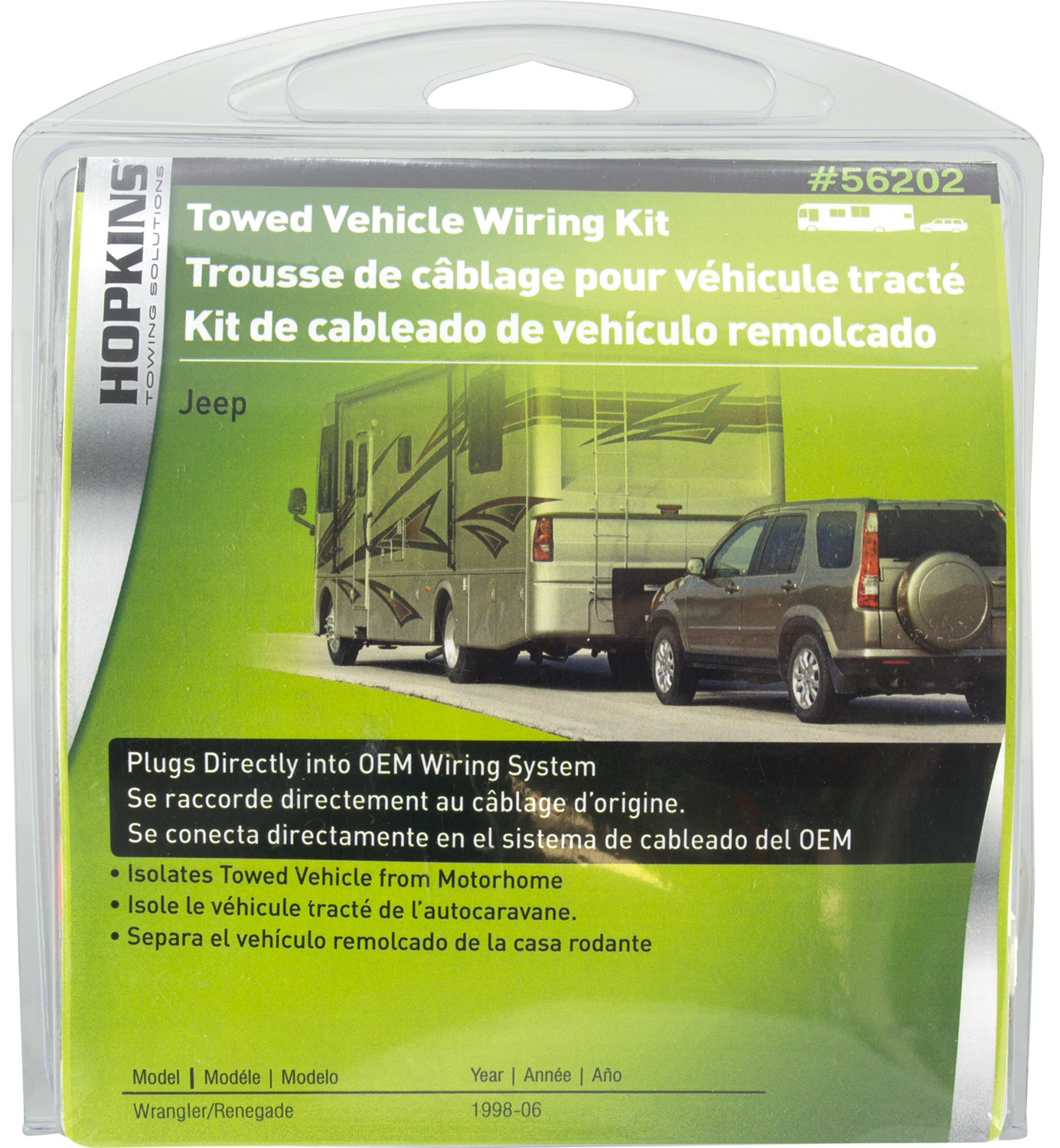 Hopkins Towing Solution 56202 Plug In Simple Vehicle To Trailer Wiring Harness Jeep Tj