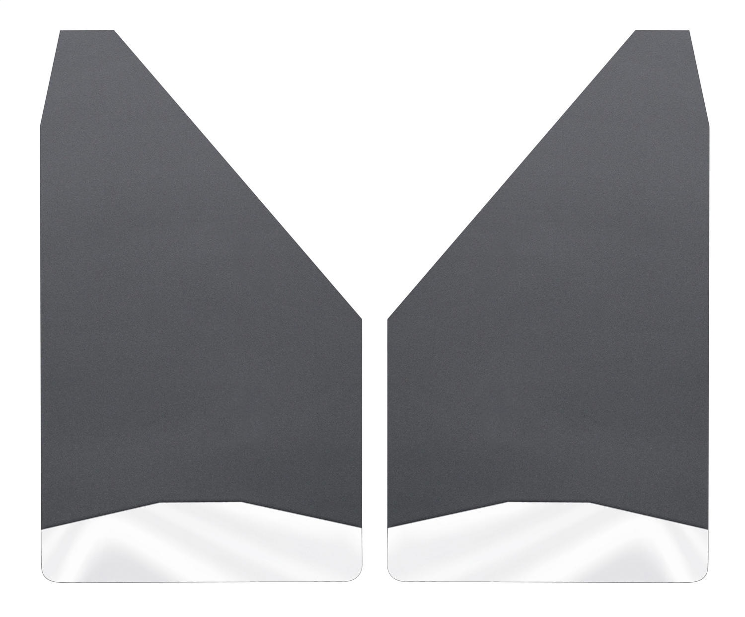 Universal Mud Flaps; 2 pc.; Black; 12 in. Wide; Stainless Steel Weight; Incl. Installation Kit;
