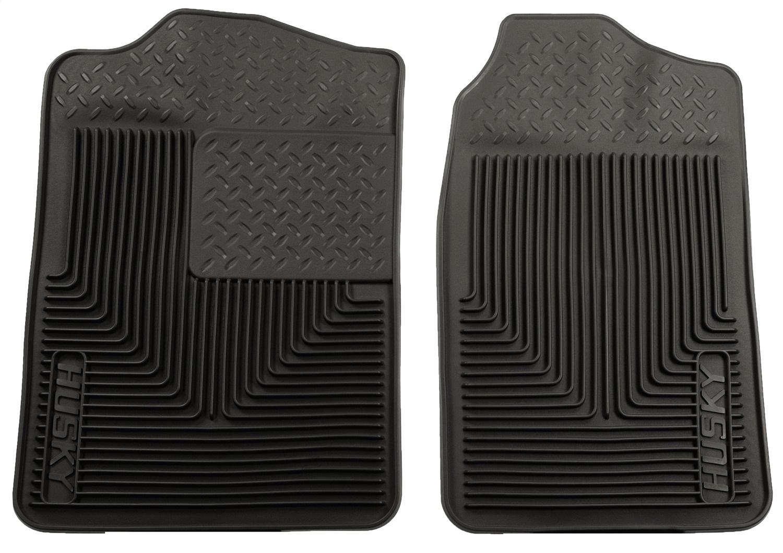 Heavy Duty Floor Mat, Black, 2 pc., Front