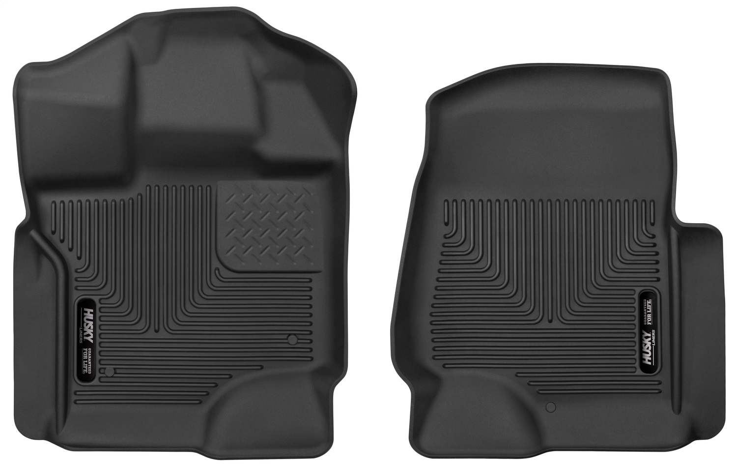 X-act ContourT Floor Liner, Black, 2 pc., Front