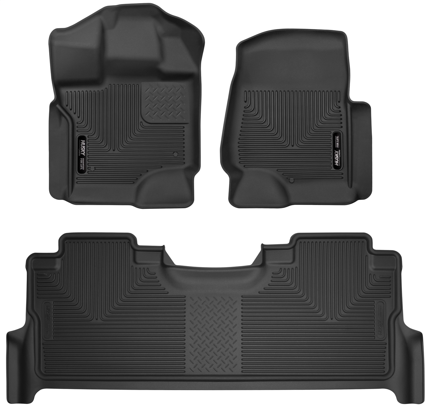X-act ContourT Floor Liner, Black, 3 pc., Front and Rear