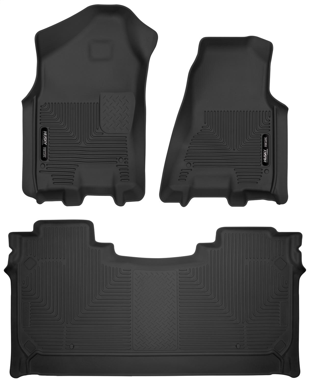 Set of 2 Lund 583023-B Catch-It Carpet Black Front Seat Floor Mat