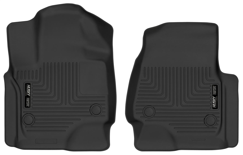 X-act ContourT Floor Liner, Black, 2 Pc., Front, TPE Thermoplastic Elastomer