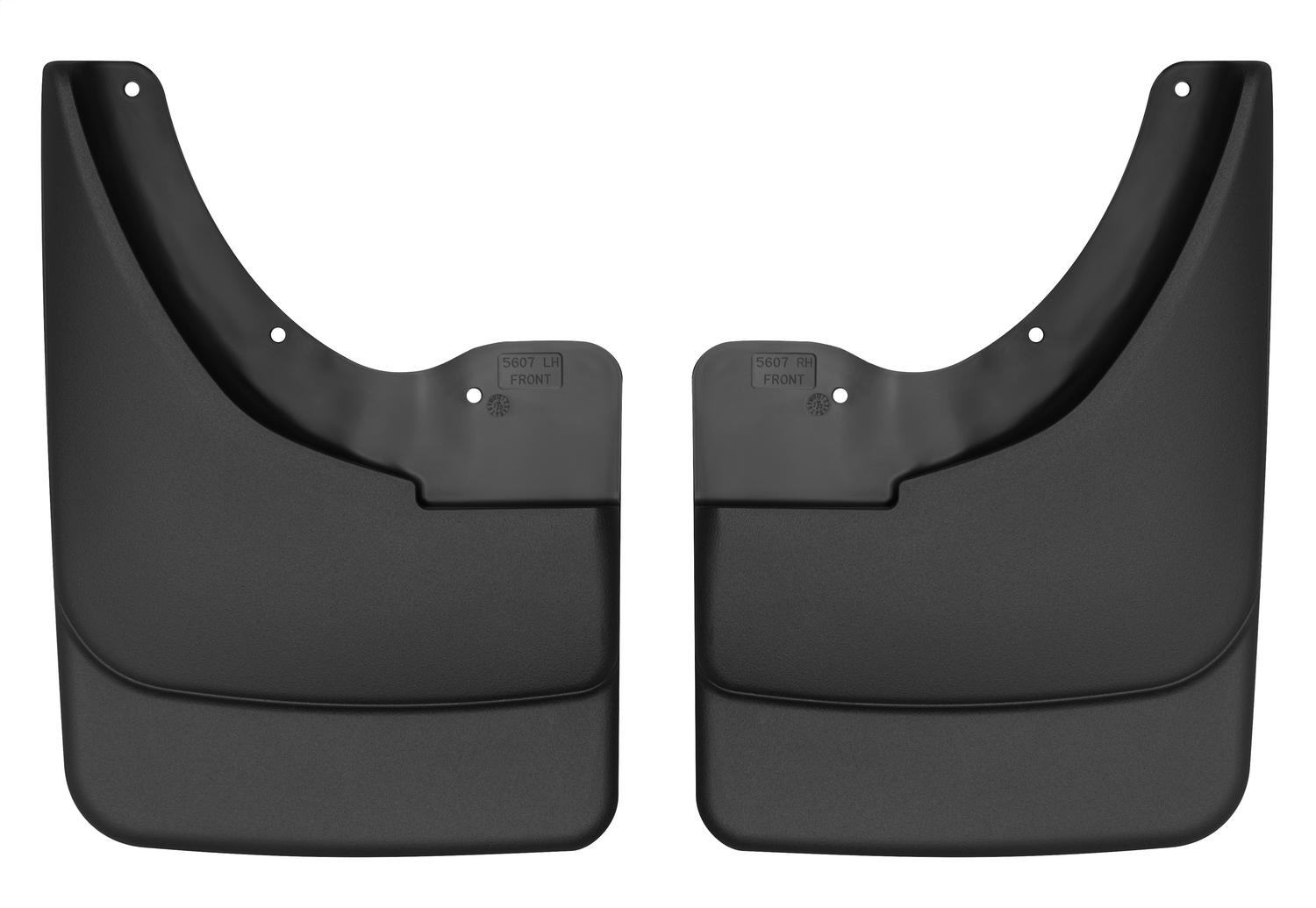 Custom Molded Mud Guards, Black