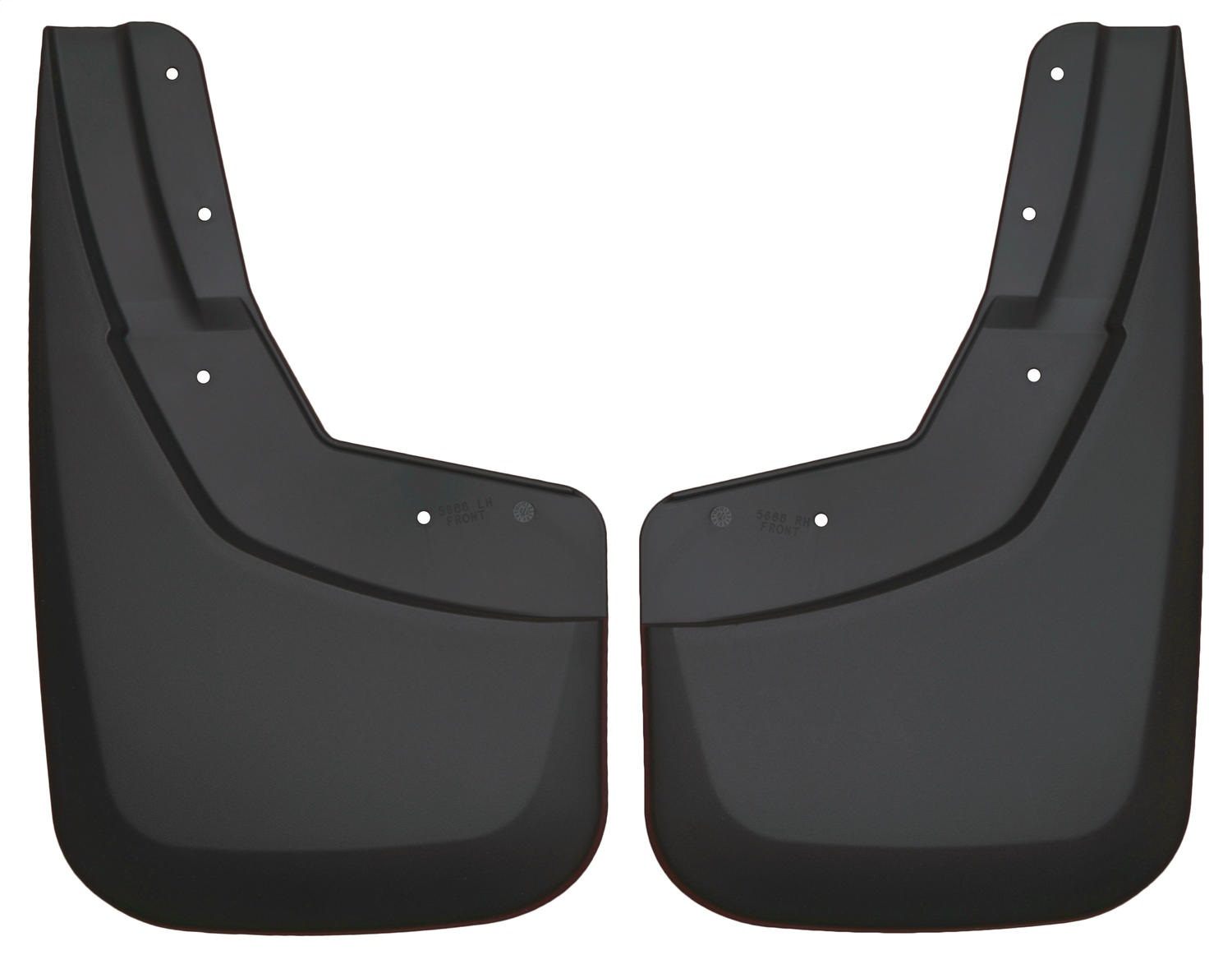 Custom Molded Mud Guards, Black, Front, No Drilling Required