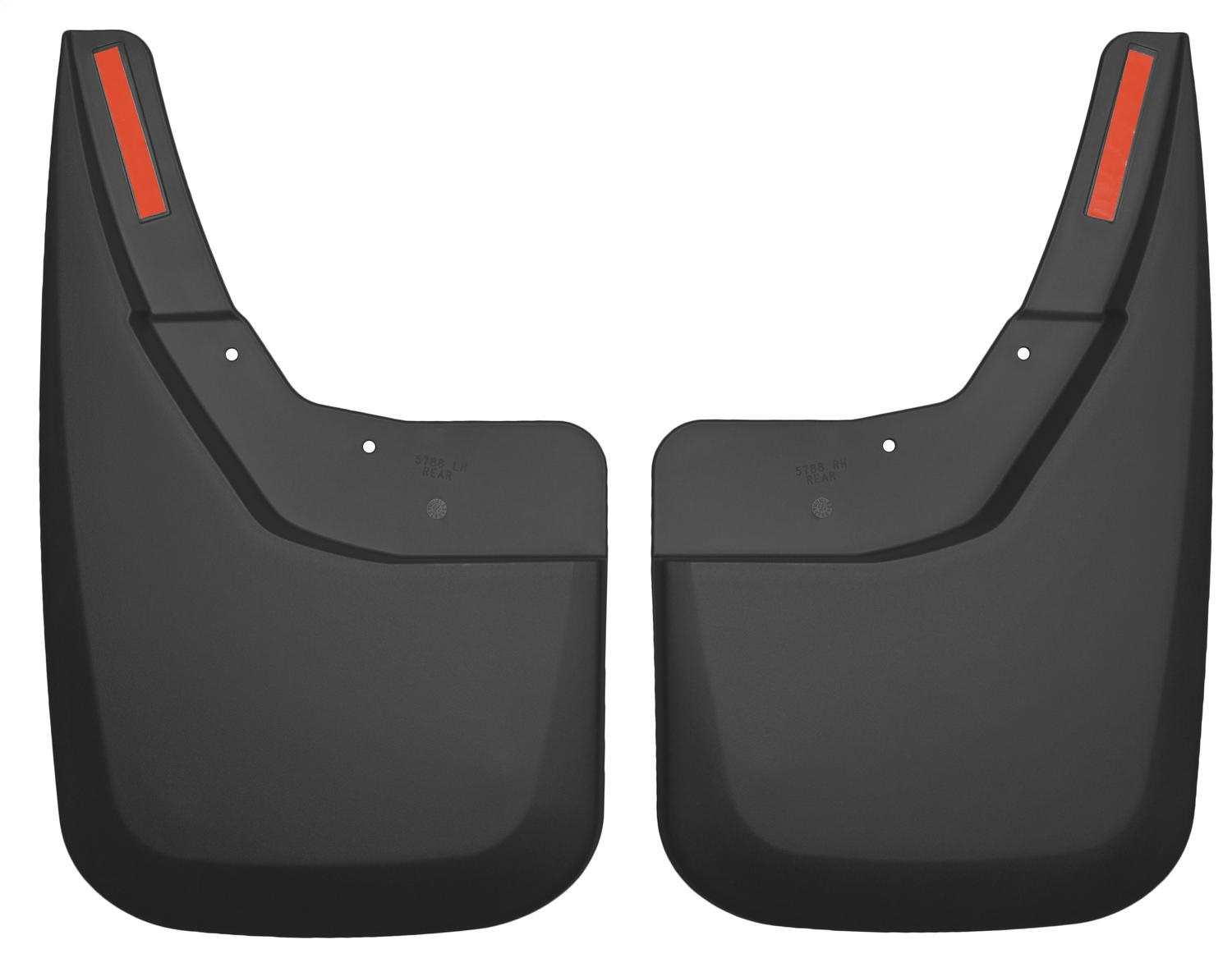 Custom Molded Mud Guards, Black, Rear, No Drilling Required