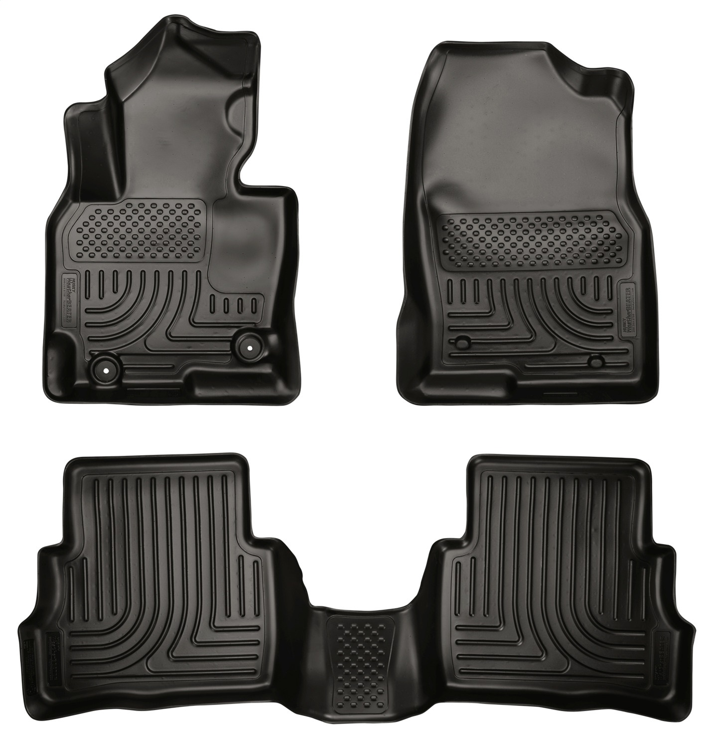 WeatherBeaterT Floor Liner, Black, 3 pc., Front and Rear