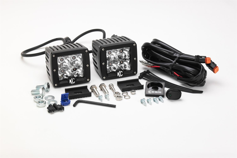 KC HiLiTES C-Series C3 LED Cube Lights, Amber