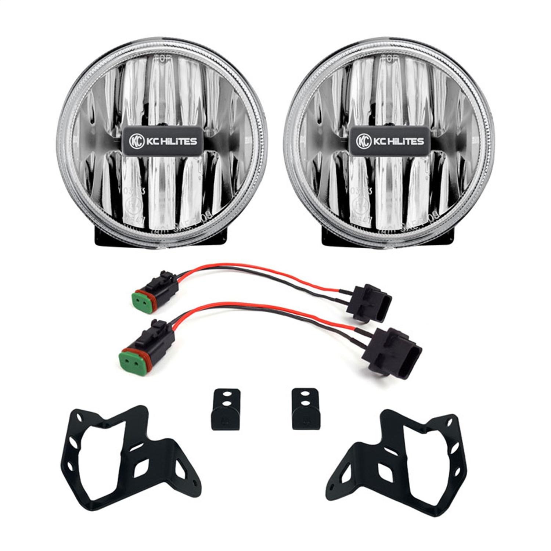 KC Hilites Gravity LED G4 Clear Fog Lights - JT/JL Sport-S Plastic Bumper