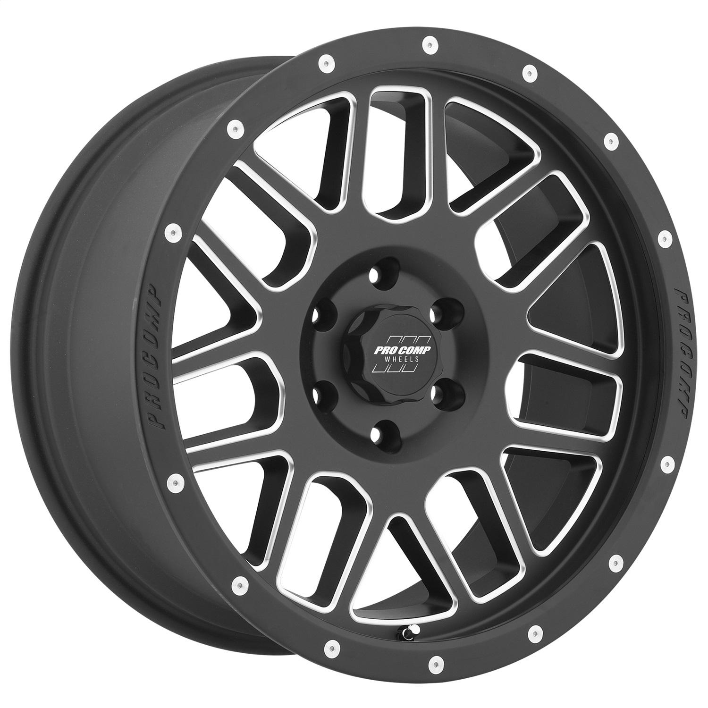 Pro Comp Wheels 5140-898350 Vertigo Series 40 Black Milled