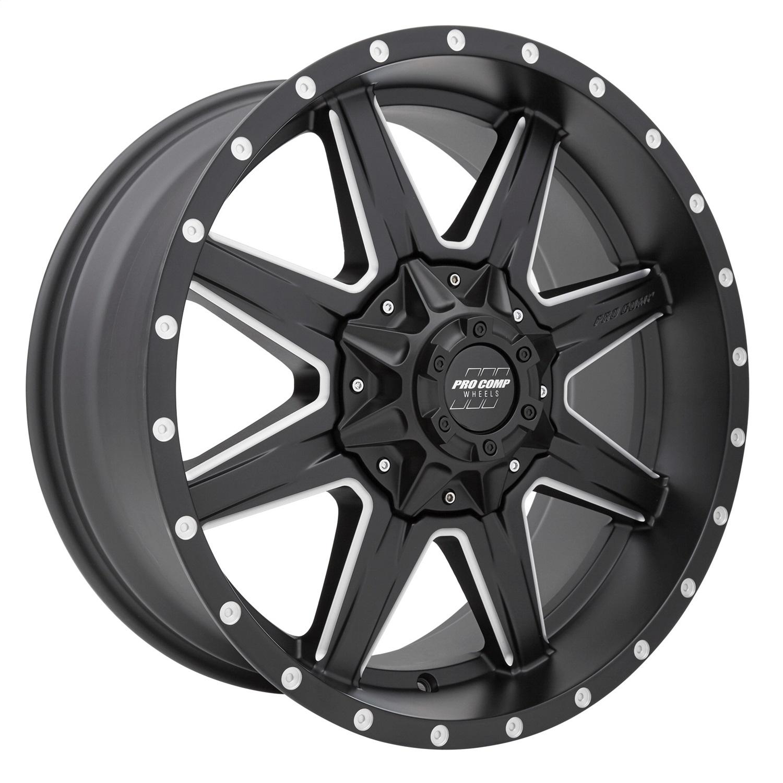 Pro Comp Wheels 5148-298250 Quick 8 Series Satin Black Finish
