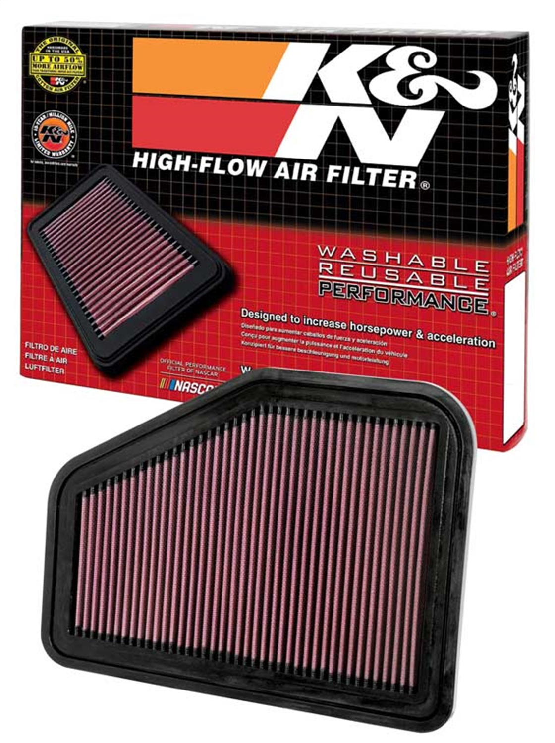 K/&N 33-2919 High Performance OE Style Filter For 08-17 Pontiac//Chevy G8//Ss