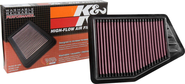 K/&N Filters Fits 1986-1989 Honda Accord Hi-Flow Air Intake Filter