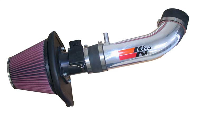 K/&N 77-1553KP Performance Intake Kit with Polished Tube for Jeep Wrangler JK 3.8L V6 2007-2011