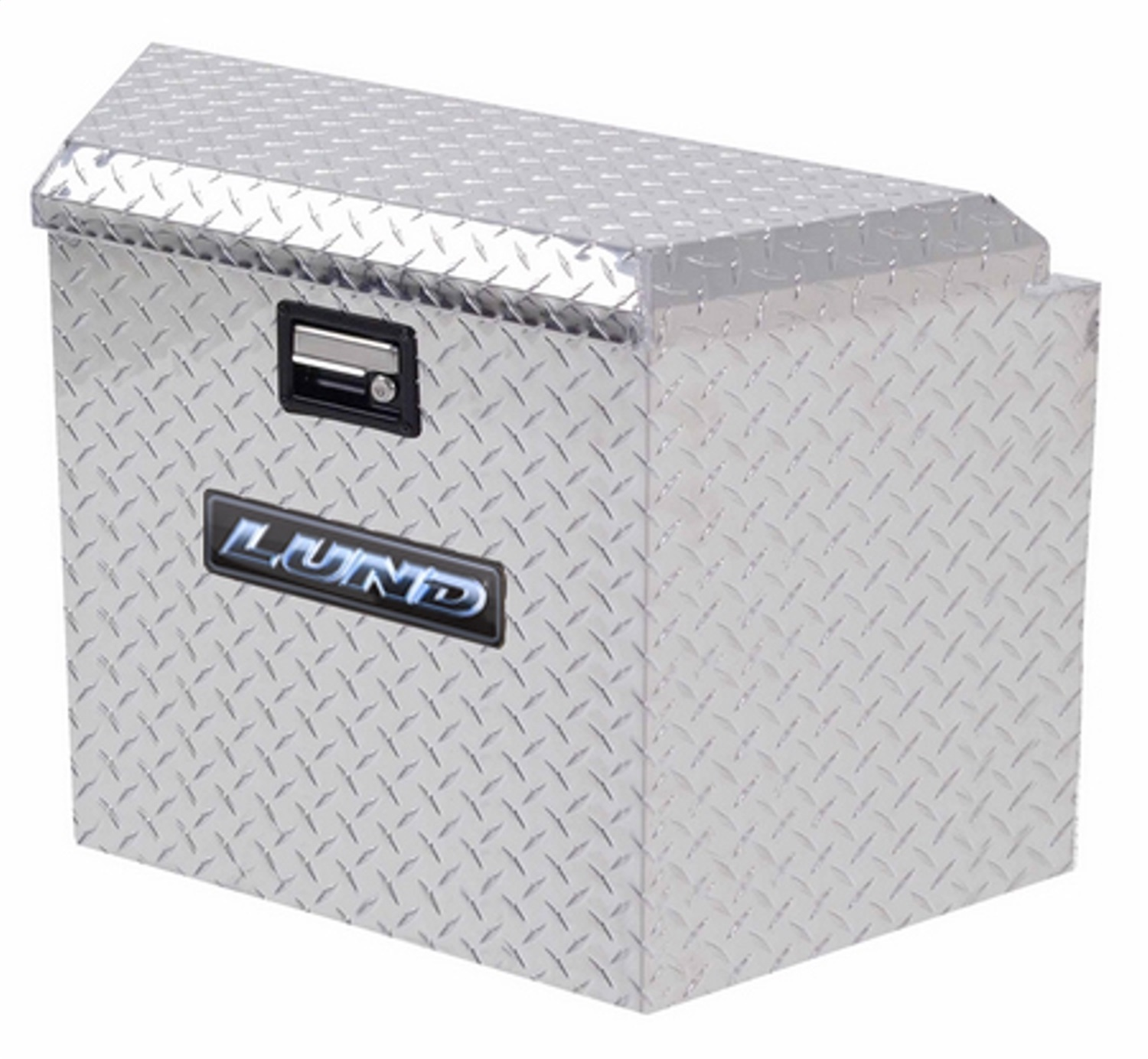Aluminum Trailer Tongue Storage Box, L 34 in. x W 21 in. x H 18 in., Brite