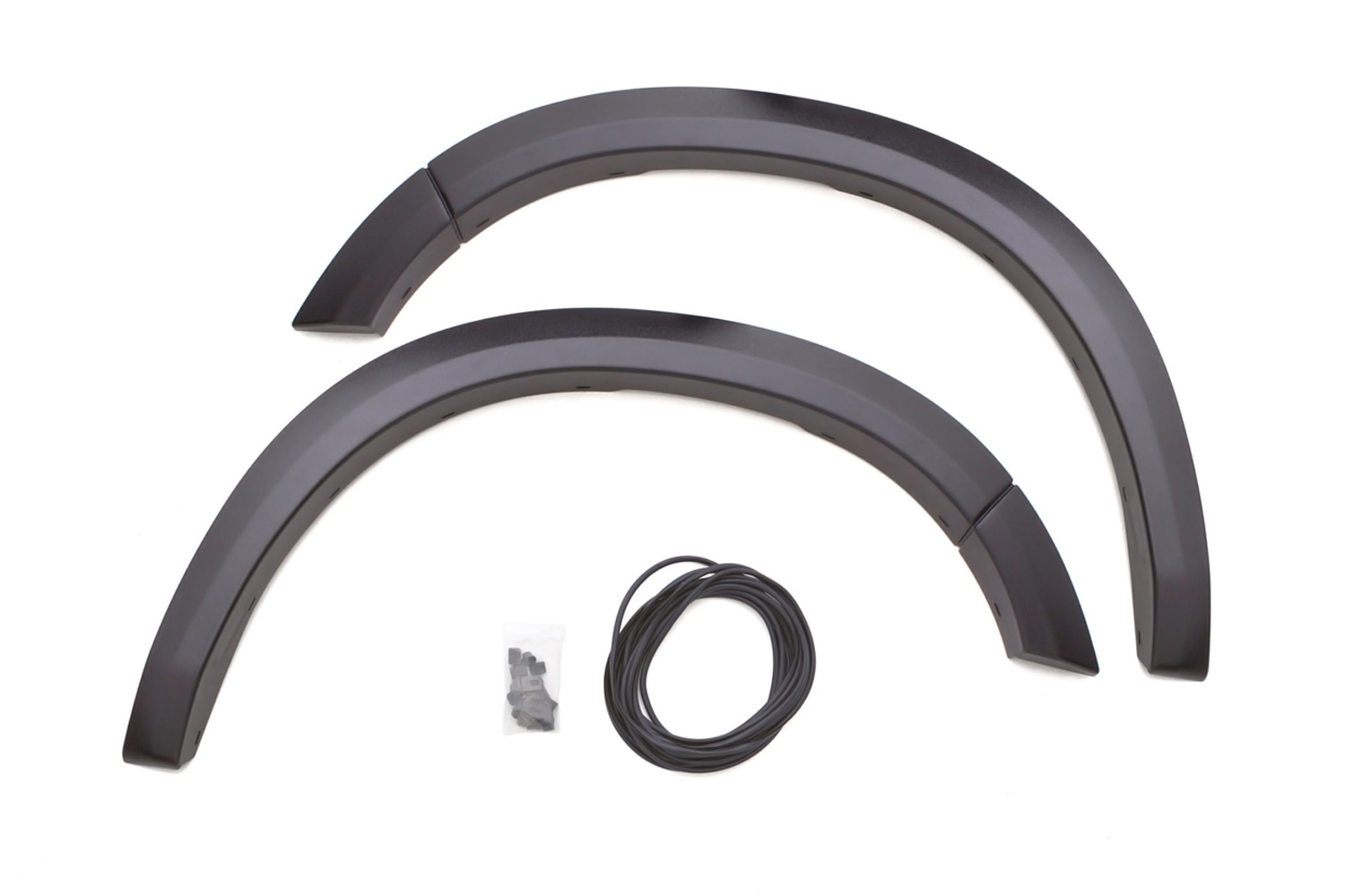 Sport Style Fender Flare Set, Smooth Black Finish, 2 pc., Front Flare Height 4.25 in., Front Flare Tire Coverage 1 in.