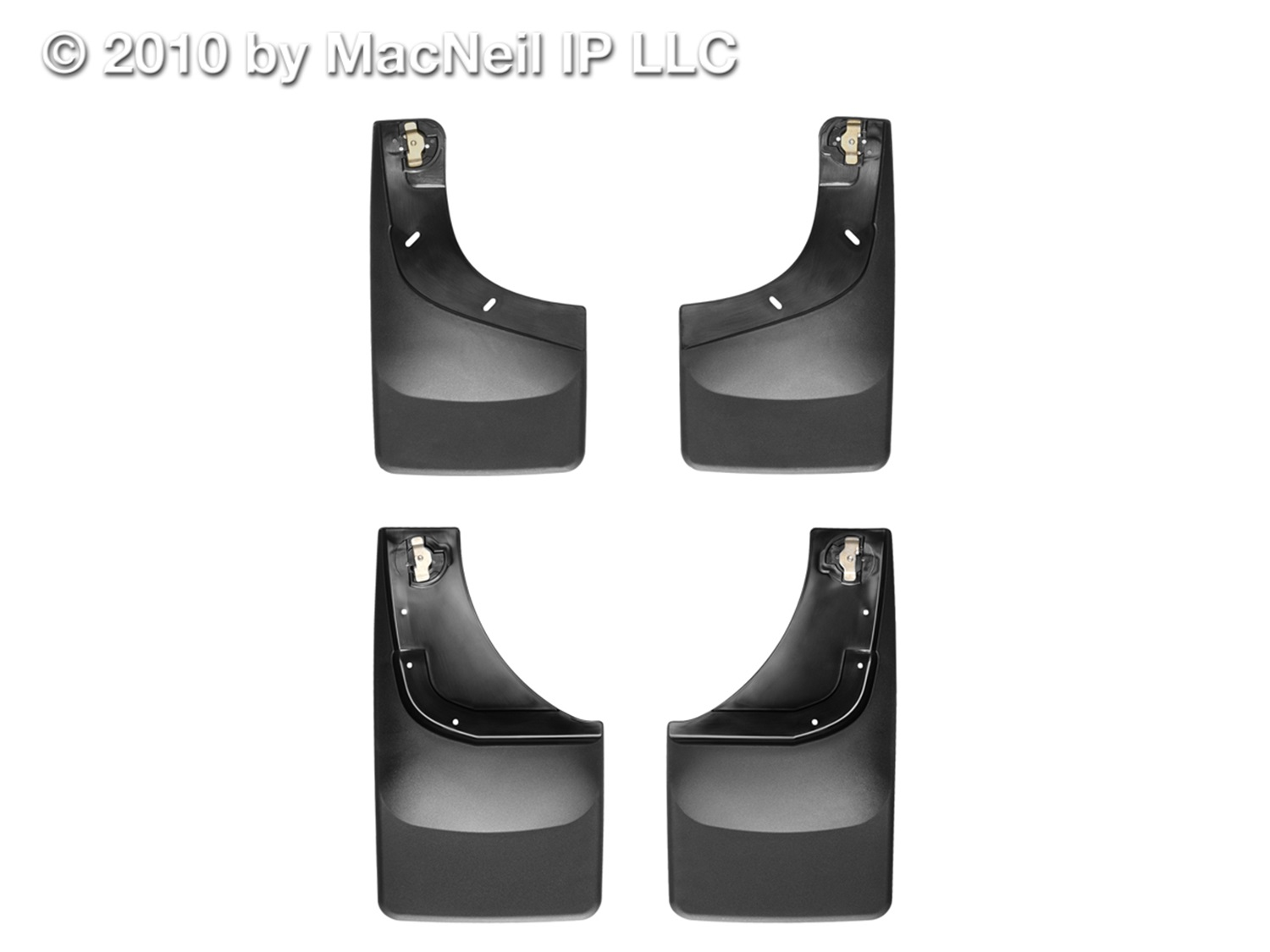 WeatherTech 110002-120002 No Drill Mudflaps, Black