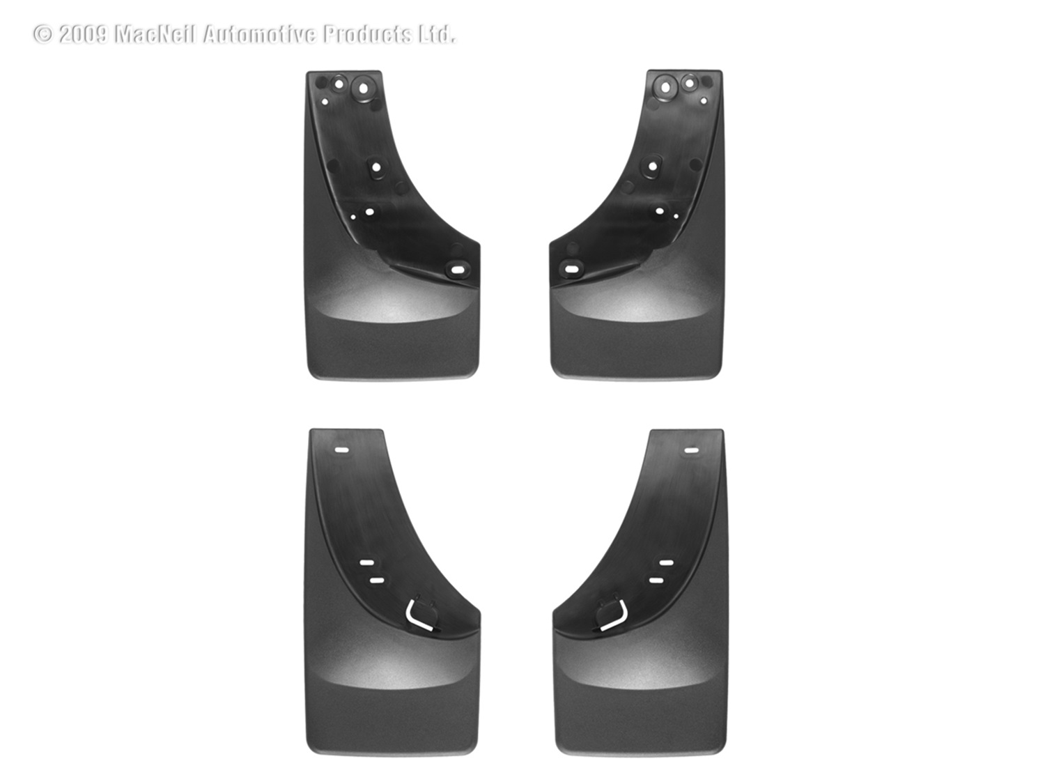 WeatherTech 110005-120005 No Drill Mudflaps, Black