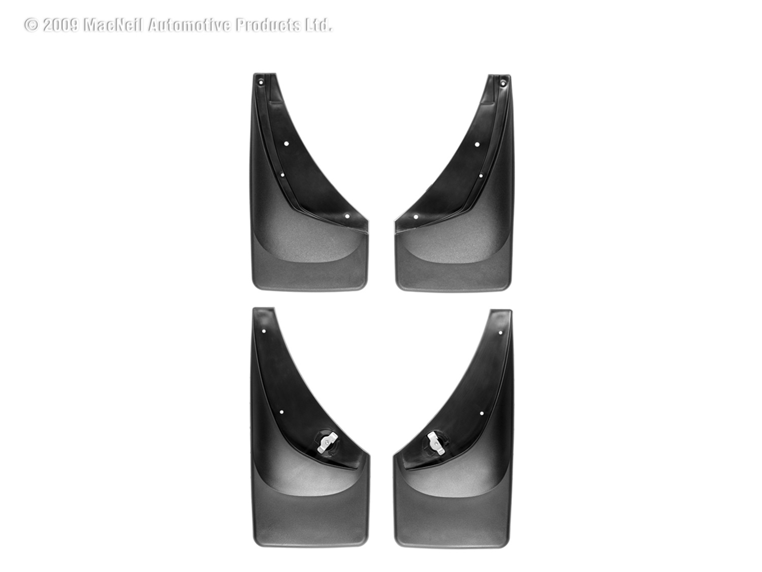 WeatherTech 110006-120006 No Drill Mudflaps, Black