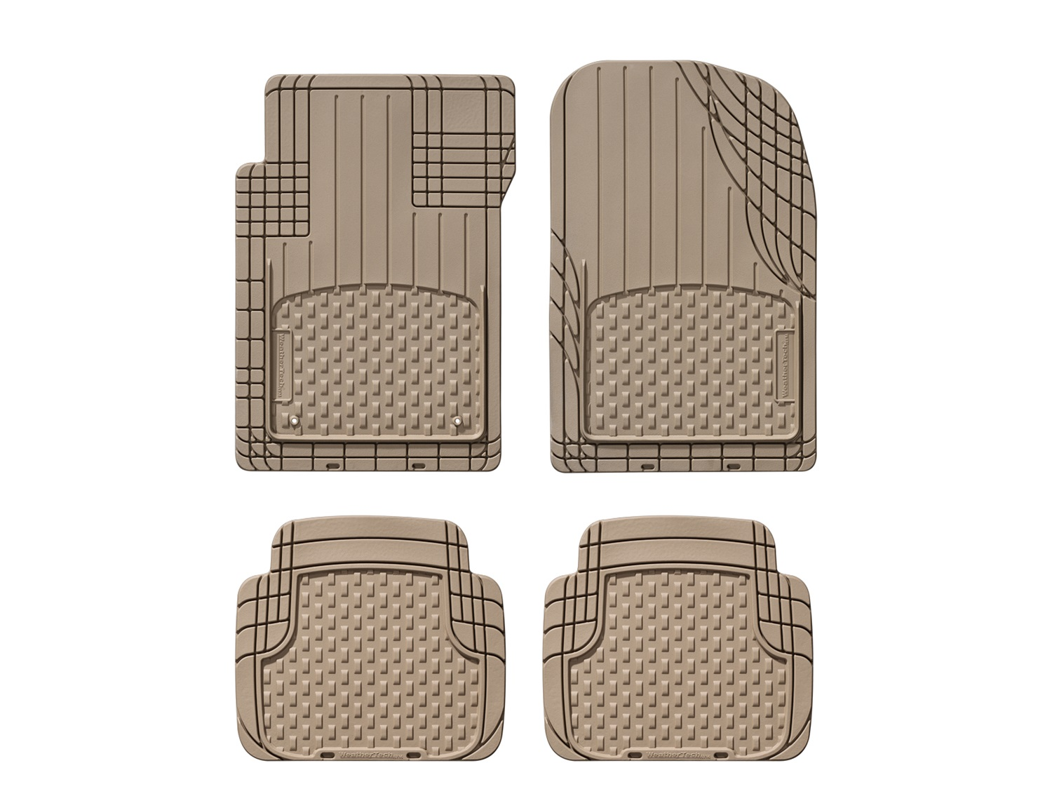 Universal All Vehicle Mat, Tan, Front and 2nd Row, 2nd Row 1 pc. Over The Hump