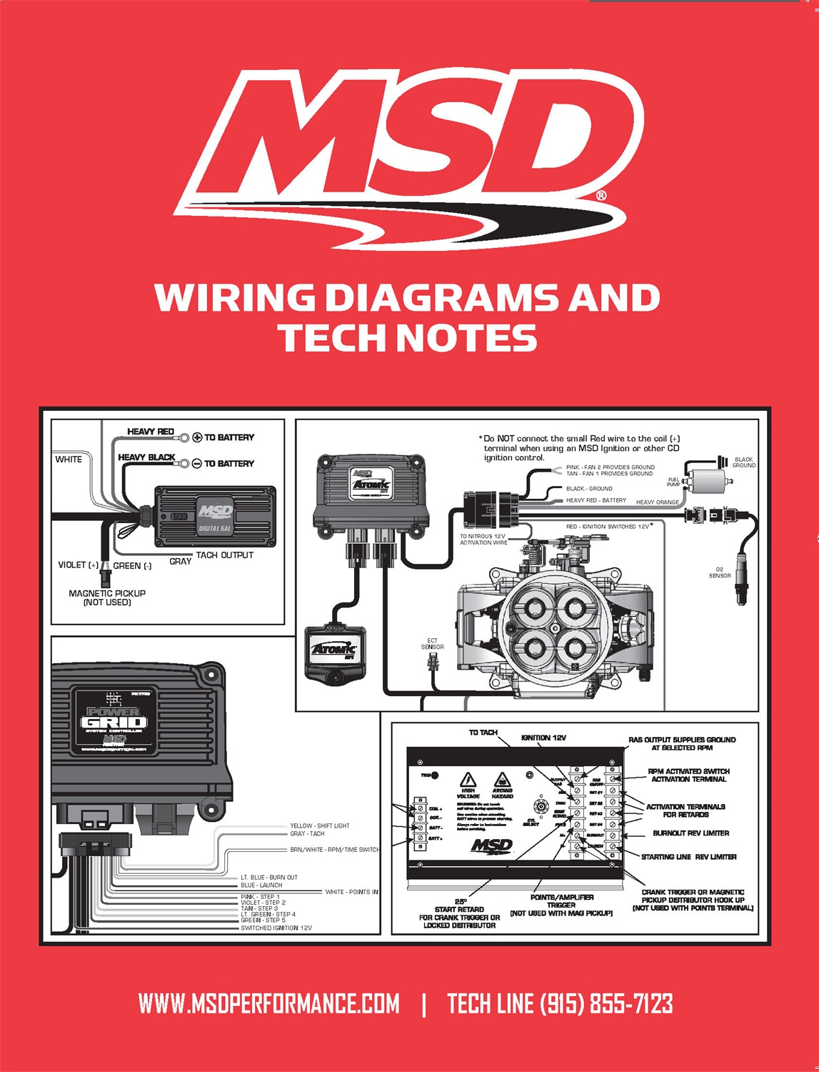 MSD Performance 9615 Wiring Diagrams/Tech Notes