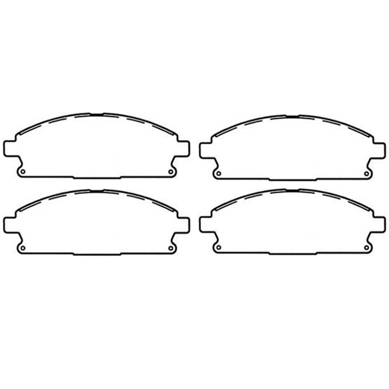 Omix 16729.09 Disc Brake Pad Kit Fits 99-04 Grand Cherokee