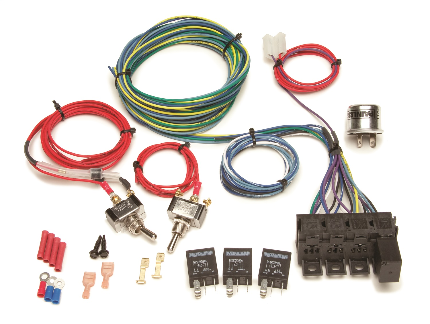 painless wiring 30120 universal turn signal harness  relay positive ground wiring diagram
