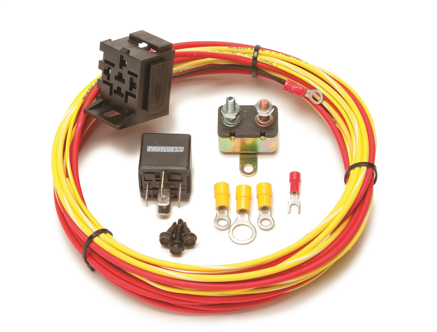painless wiring 50102 universal 30 amp fuel pump relay harness kit rh ebay com Painless Wiring Harness painless wiring/auxiliary light relay kit