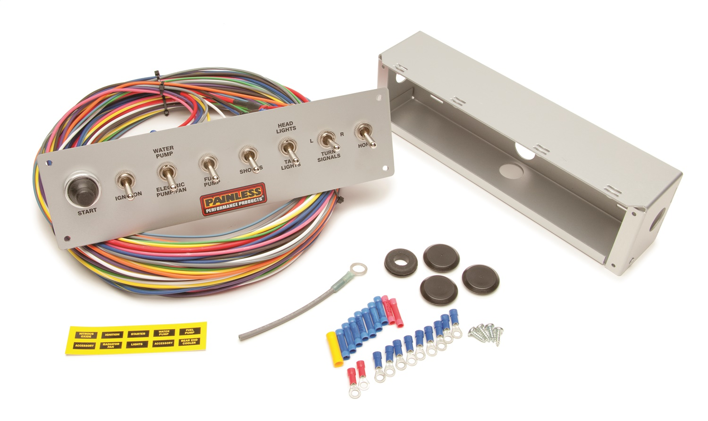 Painless Wiring 50410 8-Switch Pro Street Panel