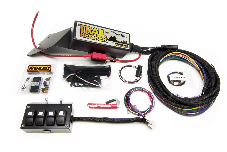 Painless 57021 Trail Rocker System Jeep CJ 1976-86 w/Underdash 4 Switch Box